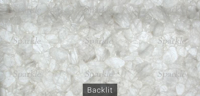 Wild Crystal Quartz Slab Backlit